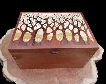 Wooden Jewellery Box - Autumn Trees