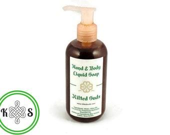 Vetiver Liquid Soap - Vegan Vetiver Soap - Vetiver Hand Soap - Vetiver Soap - Natural Soap - Vegan Soap - Liquid Soap - Pump Top Bottle