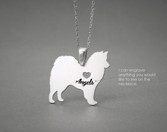 AMERICAN ESKIMO NAME Necklace - American Eskimo Name Jewelry - Personalised Necklace - Dog breed Necklace- Dog Necklace