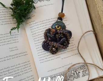 Sea Sister Pendant, Octopus Necklace, Octopus Pendant, Tentacles, Tentacle Jewelry, Wearable Art, Hand Sculpted Pendant, OOAK Polymer Clay