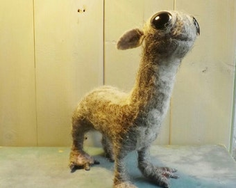 Fantastic Beasts, mooncalf, felted, Harry Potter, fantasy art doll, wool sculpture.