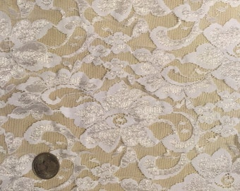 Cream Floral Lace by the Yard