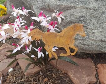 Horse yard art, Rust,southwestern, garden art.