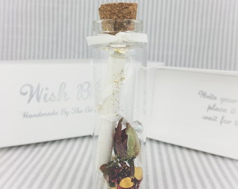 Message in a Bottle, I Love You Wish Bottle, Will You Marry Me, 1st Anniversary, Wedding, Paper Anniversary, Ruby Wedding Anniversary