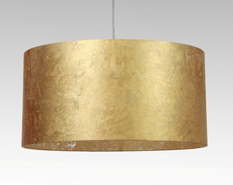 Lampshade, D.50 cm, gold-leaf-character