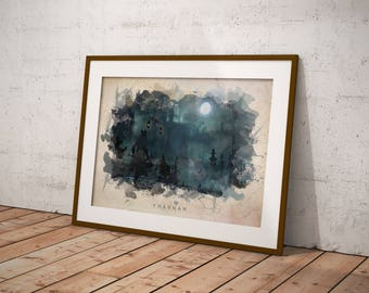 Bloodborne - Yharnam Abstract Watercolor Poster