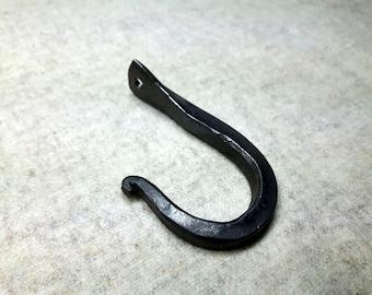 1 Hook, forged Iron, wall peg, wall hook, key rack hook, coat hook, hand forged peg, wardrobe hook