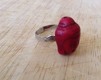 Red Buddha Ring