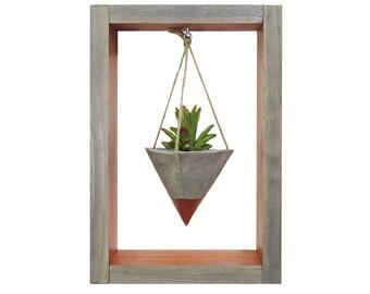 Mini Planter, Hanging Planter, Wall Planter, Air Planter, Succulent Planter, Modern Planter, Concrete Planter, Shadow Box, Gift for Her