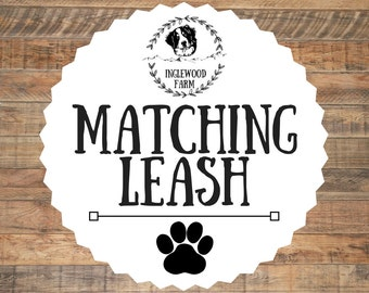 Matching Leash, Dog Leash, Pick Your Own Color Leash, Custom Dog Leash, Custom Leash, Colorful Dog Leash