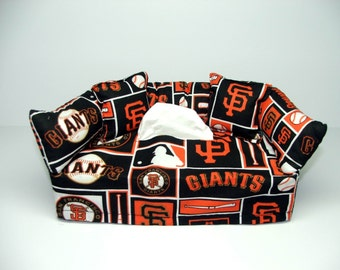 San Francisco Giants MLB Licensed fabric tissue box cover.