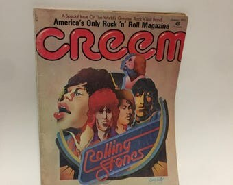 Vintage Rock n Roll Magazine - Creem - 1973 Rolling Stones Cover