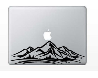 Mountain Decal - Moutain Range Decal - Rocky Mountain - Glitter Decal - Laptop Decal - Cell Phone Decal - Laptop Sticker - Car Decal