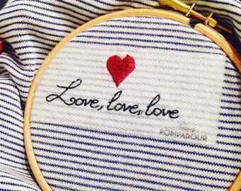 Love, love, love - Kit EASY BRODERIE