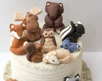 Fondant woodland animals - Earliest estimated arrival: August 30th-September 1st