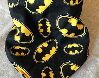 Batman symbol bandana bib