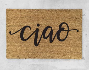 Ciao Doormat- Hand Painted - Welcome Door Mat