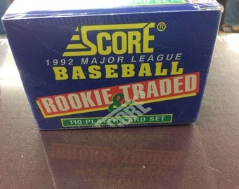 1992 score baseball rookie and traded set
