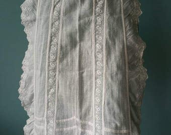 Beautiful lace apron! Brocante kitchen apron #3