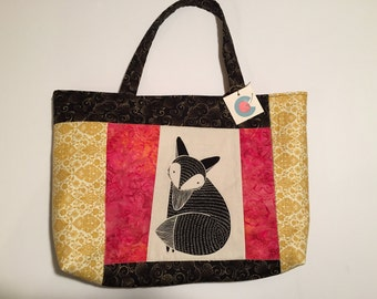 Fabric Carryall with Fox