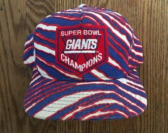 Vintage 90s New York Giants Super Bowl XXV Champions NFL Football Snapback Hat Baseball Cap * Made In USA