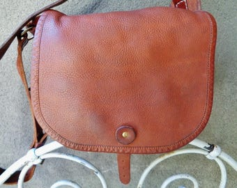 Messenger bag for man,Leather  satchel  90's,French leather satchel,  handcrafted leather briefcase