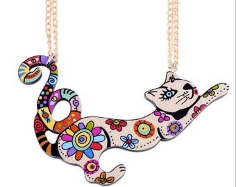 Cat Necklace Lasercut Meow...........