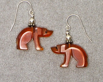 Amber Bear Earrings  - n0400e20