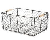 Rustic Wire Basket MED | Farmhouse Decor | Gift Basket | Storage & Organization | Storage Basket Supplies from The Tiny House Farm