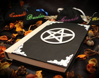 """Book of shadows / diary """"White Pentacle"""" paganism pagan symbolism wicca handcrafted journal wizardry"""