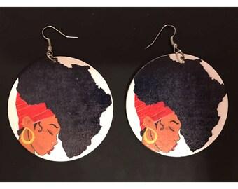 Natural Earrings, Africa Earrings