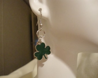 St. Patrick's Day earrings, green clover earrings, green earrings, Patrick's day decor, clover earrings, cute green clover earrings, (500)