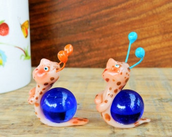 snail marble snails polymer clay snails with marble