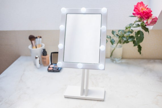 WHITE Makeup mirror with lights Hollywood lighted Vanity