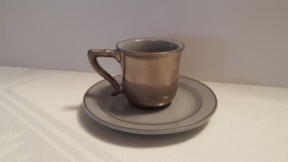 Stangl Silver Haze After-Dinner Cup and Saucer #5140