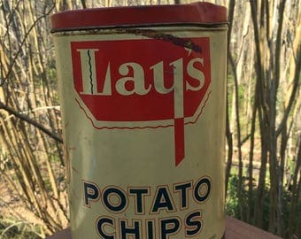 RARE!! Vintage Lay's Potato Chip Can