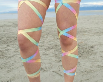 Pastel Rainbow Leg Wraps