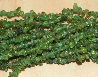 Peridot Chip Beads - 35 inches long (88.9 cm)