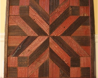 Rustic Wall Hangings red green star holiday quilt wood wall art wooden wall hanging