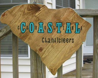 Coastal Carolina, graduation gifts for him, Coastal Carolina university, reclaimed wood, CCU, grad gift, pallet wall art, dorm, wall art