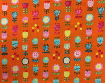 Orange Floral Westex Fabric Japanese Import