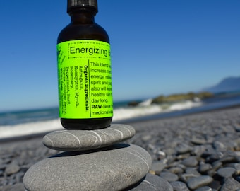 Energizing Body Oil-Raw, Organic, Vegan/ Clears negative energy/ Relieves stress/ Increases mental clarity/ Moisturizes all day long!