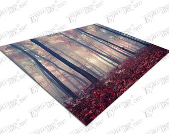 Print on Canvas Mystic forest red carpet of leaves X1329