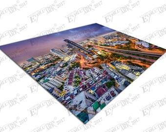 Print on Canvas city of Bangkok at Night Thailand X1679