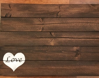 Wedding Guestbook Wooden Guestbook Alternative Rustic Pallet Design With Heart and Love