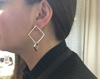 Metal earring, Brass earring, chandelier earring, Nickel free earring