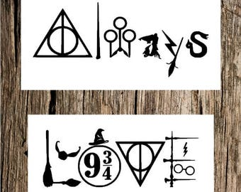 Harry Potter Love decal / Harry Potter Always decal / HP decal / HP bumper sticker