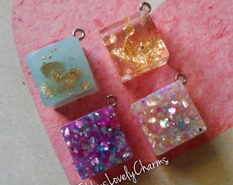 Resin Square Nacklace Charms