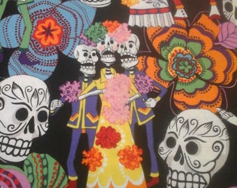 Alexander Henry Halloween Day of the Dead  Fabric 1 Yard Cotton