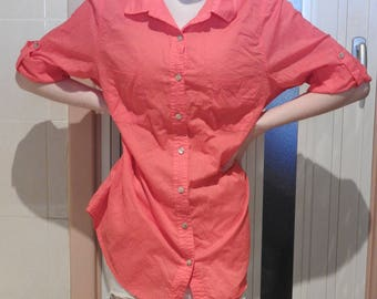 Red 3/4 Sleeve Blouse